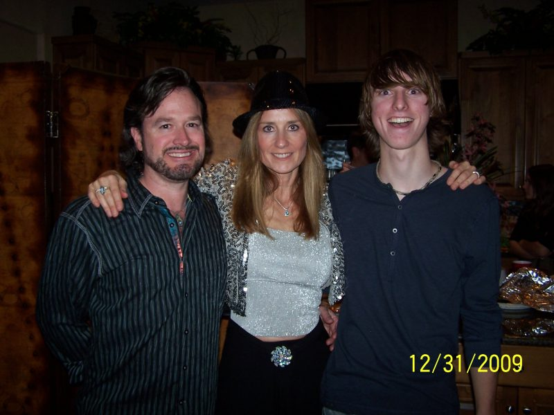 My husband Tim, me, my son Dustin