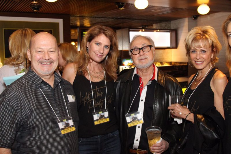 Committee member Ron Willison, Shannon Neiderman, author Andrew Neiderman, Diane Neiderman