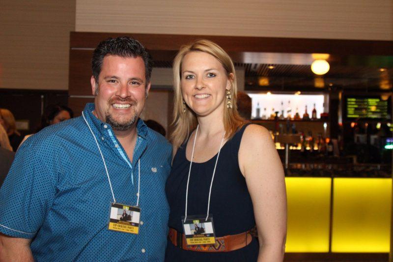 Committee member Sean Webb and wife Tara