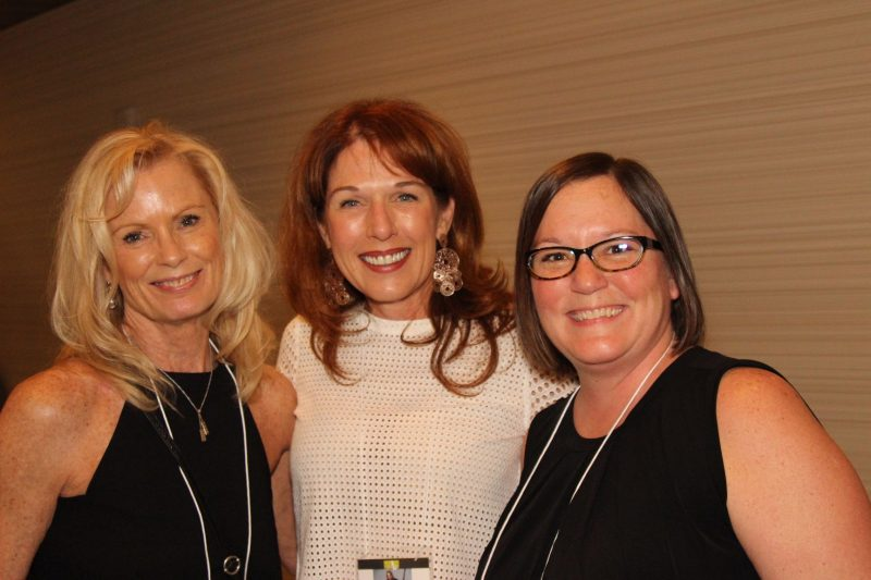 Sponsors Michele Mahoney and Debbie Lee with Debbie's cousin