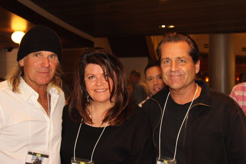 Tennis pro and actor Nels Van Patten, committee member Renae Madore, actor Jimmy Van Patten