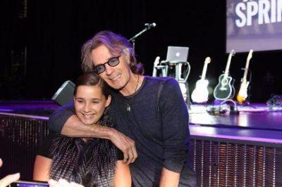 Child cancer survivor Juliana Rose and Rick
