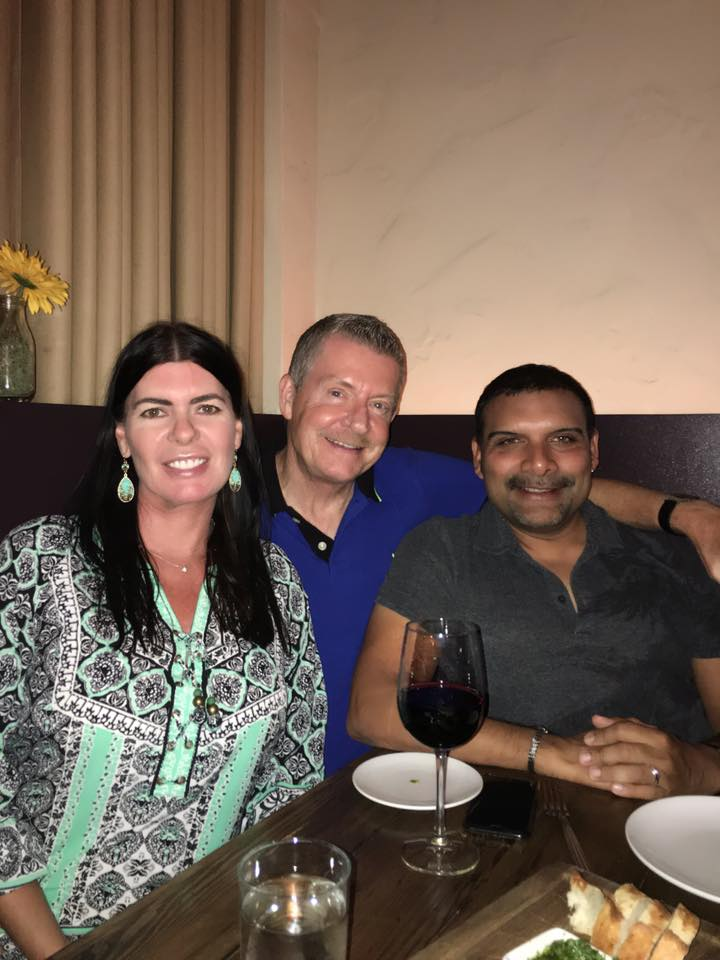 Teresa with good friends Greg Robertson and Frank Navji