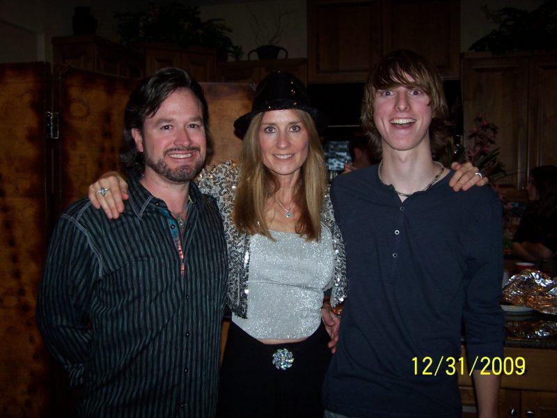 My husband Tim, me, my son Dustin