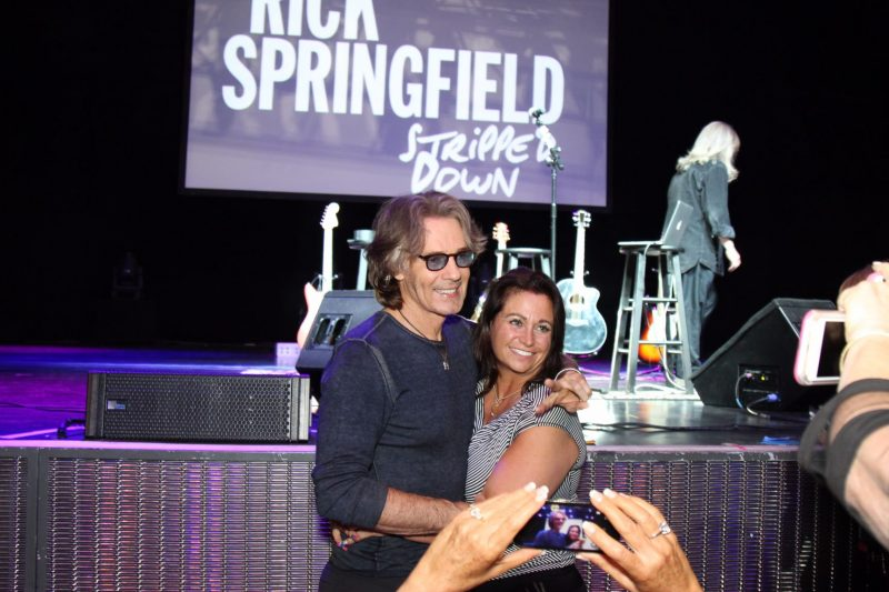 Rick and long-time fan and incredible ACS supporter Nickie Giammarino-Lawson