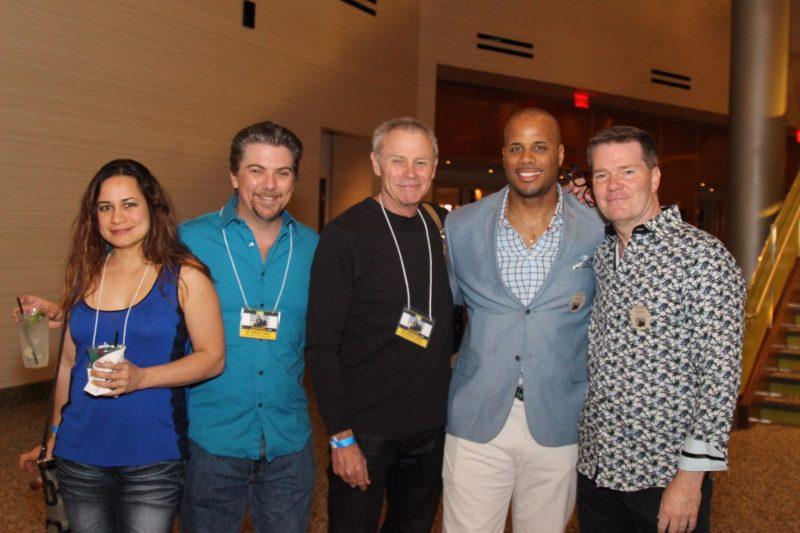 Jeremy and Joanie Miller, Tristan Rogers, artist Mike Emory, James Ronald Whitney
