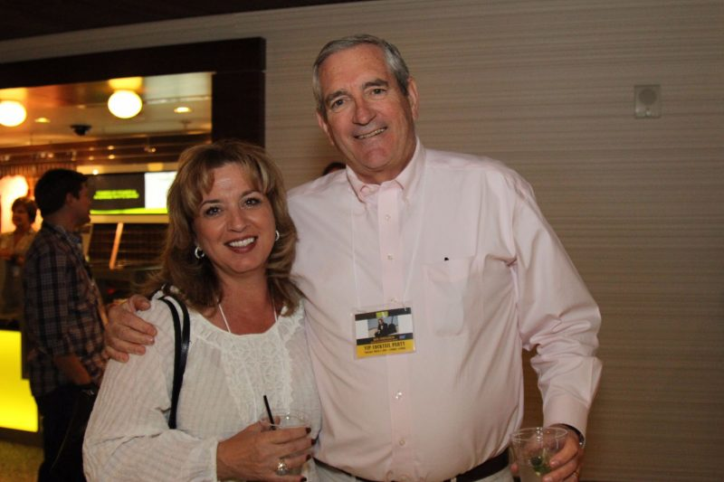 Incredible supporters Catharine Reed and KESQ's Mike Stutz, cancer survivor