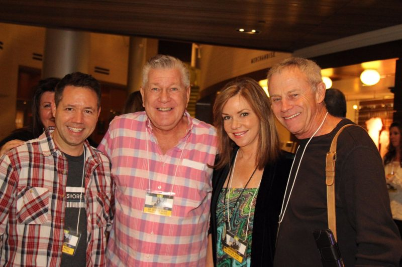 Radio personalities Kevin Holmes and Bill Feingold, Bobbie Eakes and Tristan Rogers